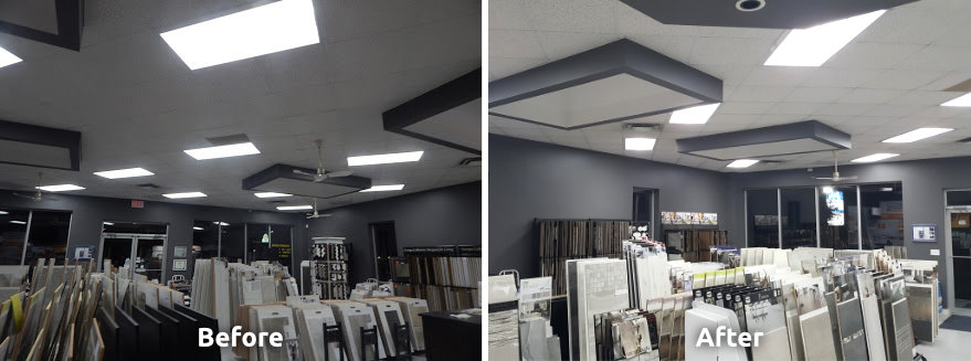 Aladdin LED Lighting Before and After